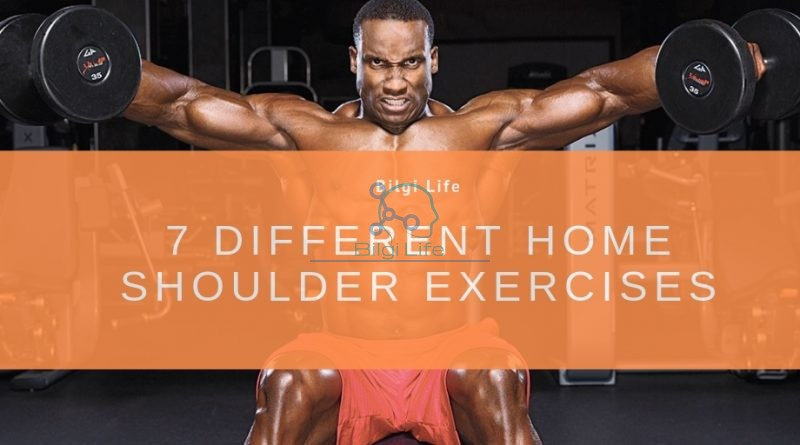 7 different shoulder home exercises - Exercies for strong